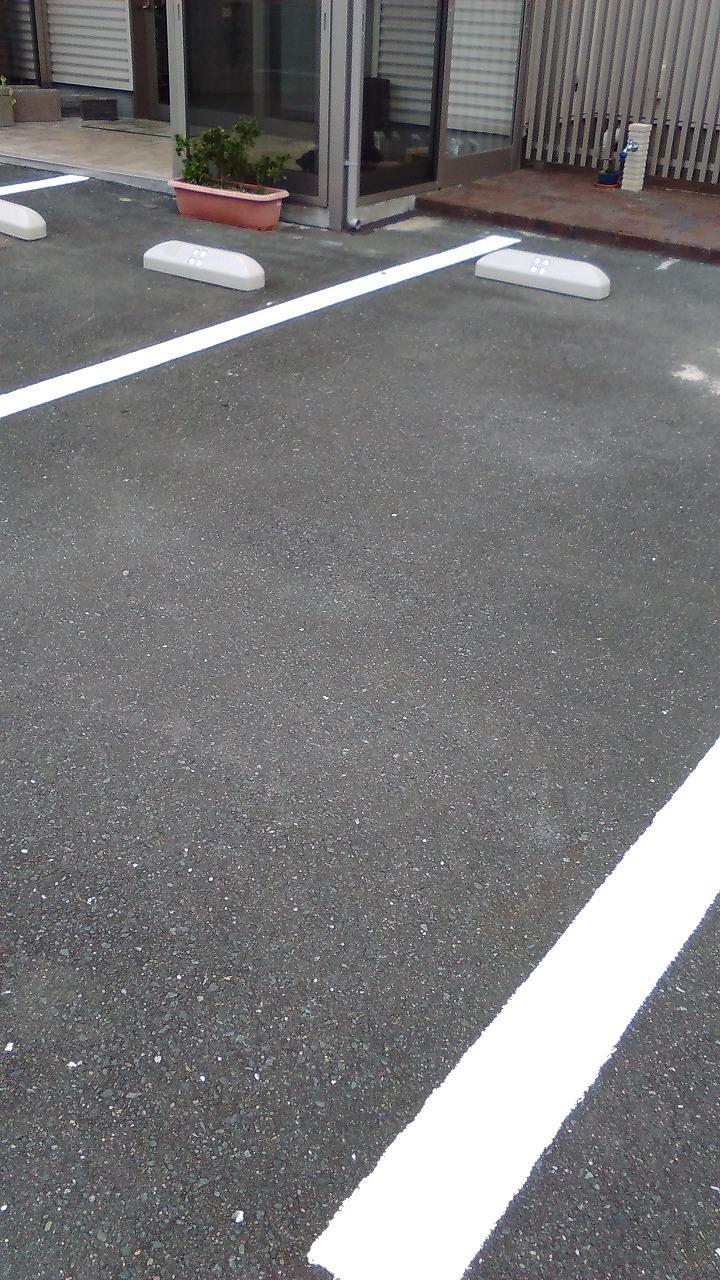 駐車場ライン引き工事170307